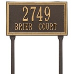 Double Line Address Plaque Lawn 1 Line