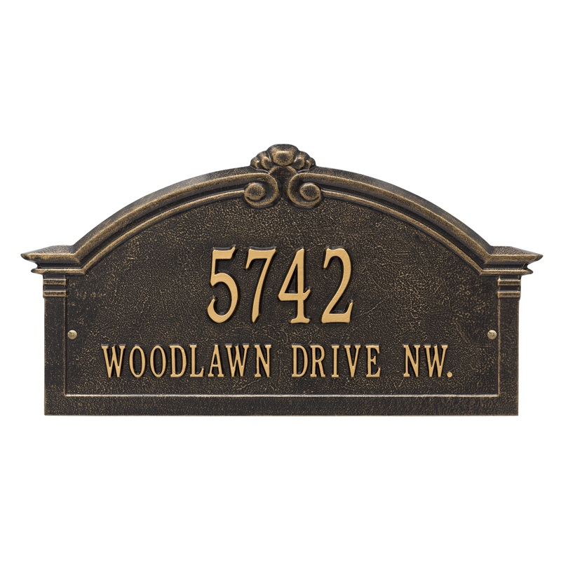 Roselyn Grande Arch 2 Line Wall Address Plaque