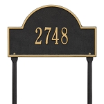 Arch Address Plaque Lawn 1 Line