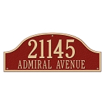 Admiral 2 Line Estate Wall Address Plaque