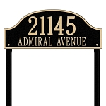 Admiral Address Plaque Lawn 2 Line