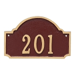 Fitzgerald Petite Wall Address Plaque