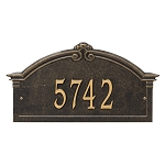 Roselyn Grande Arch Address Plaque Wall 1 Line