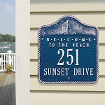 Beach Welcome Address Plaque Wall