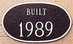 Built Date Plaque