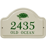 Turtle Ceramic Address Plaque