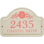 Sand Dollar Ceramic Address Plaque