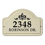 Fleur de Lis Ceramic Address Plaque