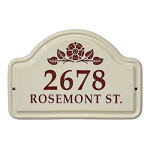 Ceramic Address Plaque Rosette