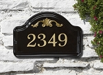 Ceramic Address Plaque Acanthus Wall 1 Line