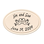 Birds Anniversary Heart Ceramic Plaque