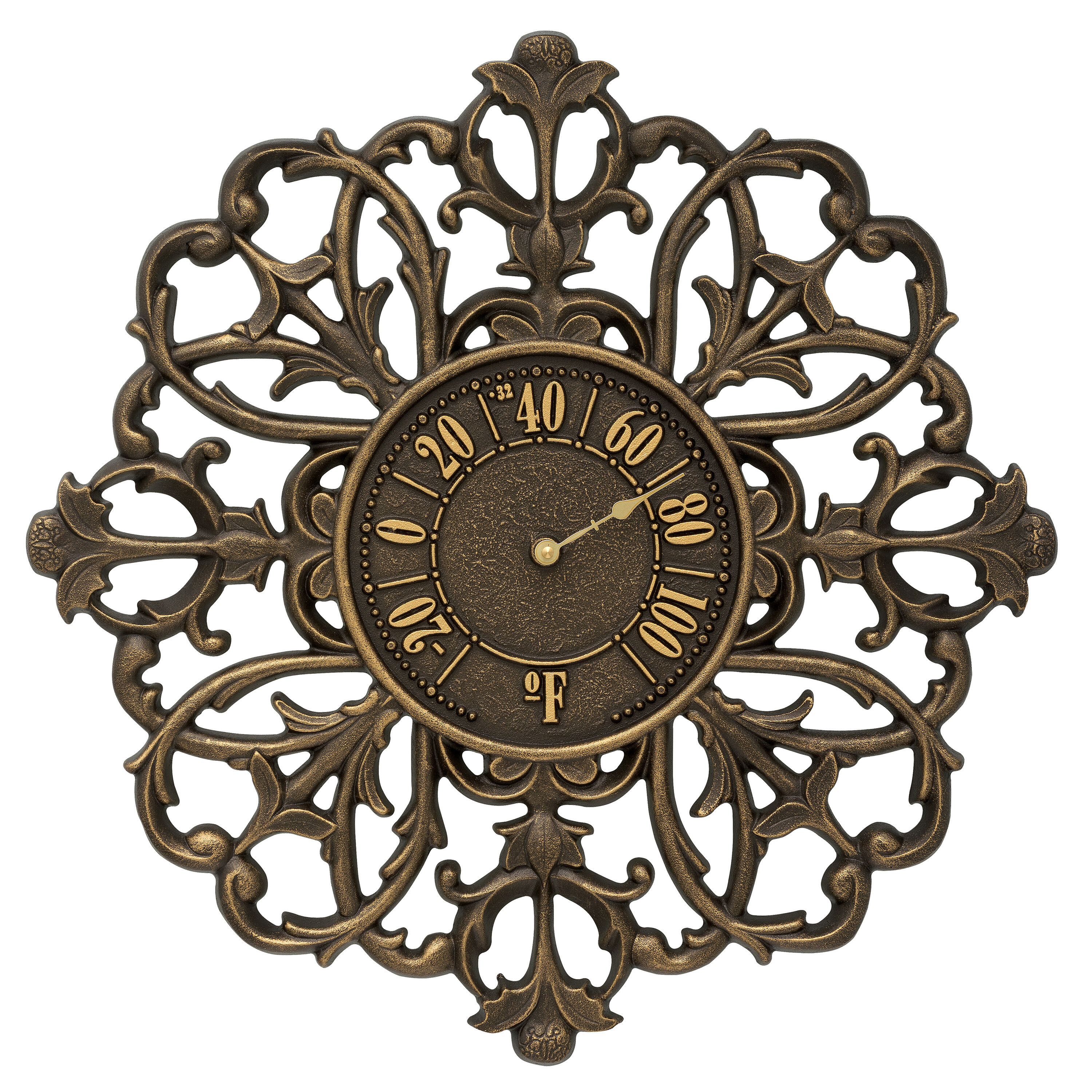 Filigree silhouette indooroutdoor wall thermometer amipublicfo Gallery