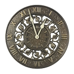 Ivy Silhouette Indoor/Outdoor Wall Clock French Bronze