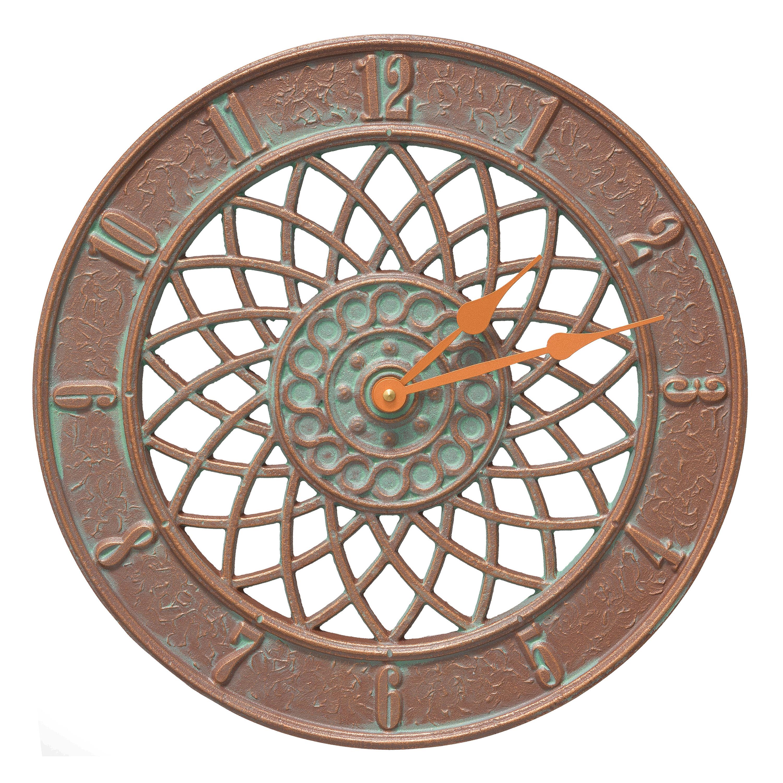 Copper Verdigris Spiral Indoor/Outdoor Wall Thermometer