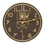 Amber Dard Hunter Rose Indoor/Outdoor Wall Clock