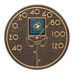 Blue Dard Hunter Rose Indoor/Outdoor Wall Thermometer