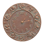 Rose Indoor/Outdoor Wall Clock