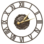 Rosette Floating Ring Indoor/Outdoor Wall Clock