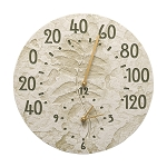 Sumac Indoor/Outdoor Wall Clock & Thermometer Moss Green