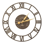 Sunface Floating Ring Indoor/Outdoor Wall Clock