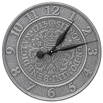 Three Crowns in Coin Indoor/Outdoor Wall Clock
