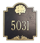 Pensacola Oak Address Plaque
