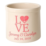 Stoneware Crock Love Anchor Design