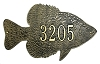 Crappie Silhouette Address Plaque
