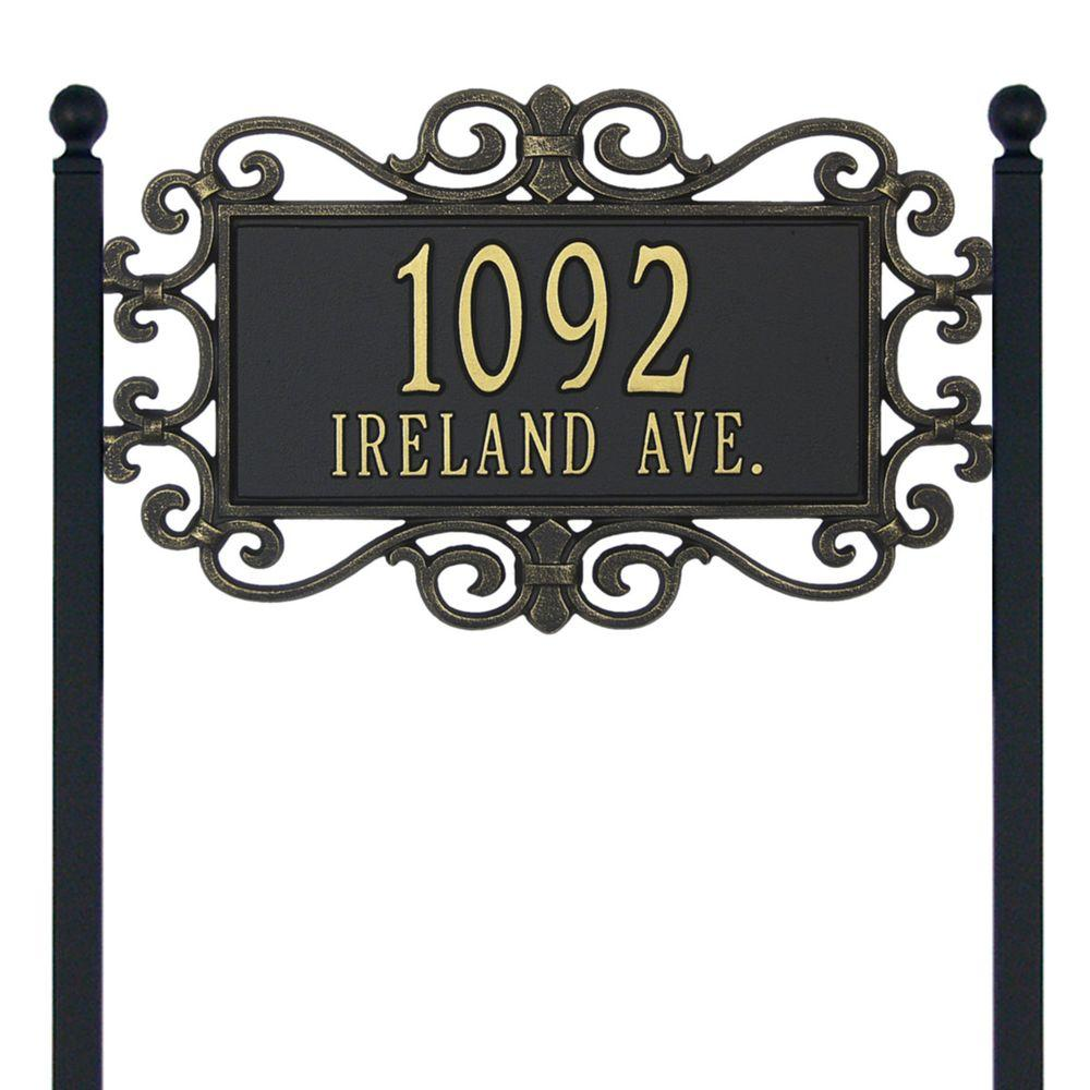 Mears Fretwork 2 Line Lawn Address Plaque