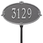 Montecarlo Address Plaque Lawn 1 Line