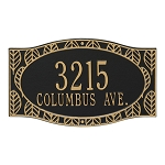 Frond Neohaus Address Plaque Wall 2 Line