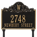 Acanthus Monogram Address Plaque Lawn