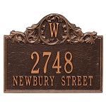 Acanthus Monogram Wall Address Plaque