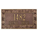 Aspen Address Plaque Wall 2 line