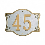 Bordeaux Address Plaque 4.5 Inch Numbers