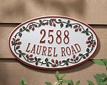 Catalina Raspberry Oval Address Plaque