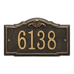 Gatewood Address Plaque Wall 1 Line