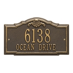 Gatewood Address Plaque Wall 2 Line