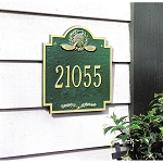Golf Emblem Address Plaque Wall 1 Line