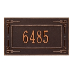 Key Corner Address Plaque Wall 1 Line