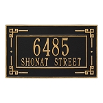 Key Corner Address Plaque Wall 2 Line