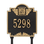 Monogram Address Plaque Lawn 1 Line
