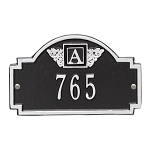 Monogram Address Plaque Petite Wall 1 Line