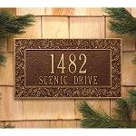 Oakleaf Address Plaque Wall 2 Line