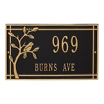 Woodridge Bird Address Plaque Wall 2 Line