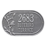Woodridge Bird Oval Address Plaque Wall 3 Line
