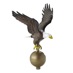 Flag Pole Eagle Large Size Color