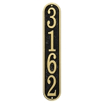 Vertical House Number Plaque Fast & Easy