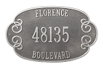 Florence Address Plaque Estate Wall 3 Line
