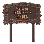 Ivy Trellis Personalized Garden Sign